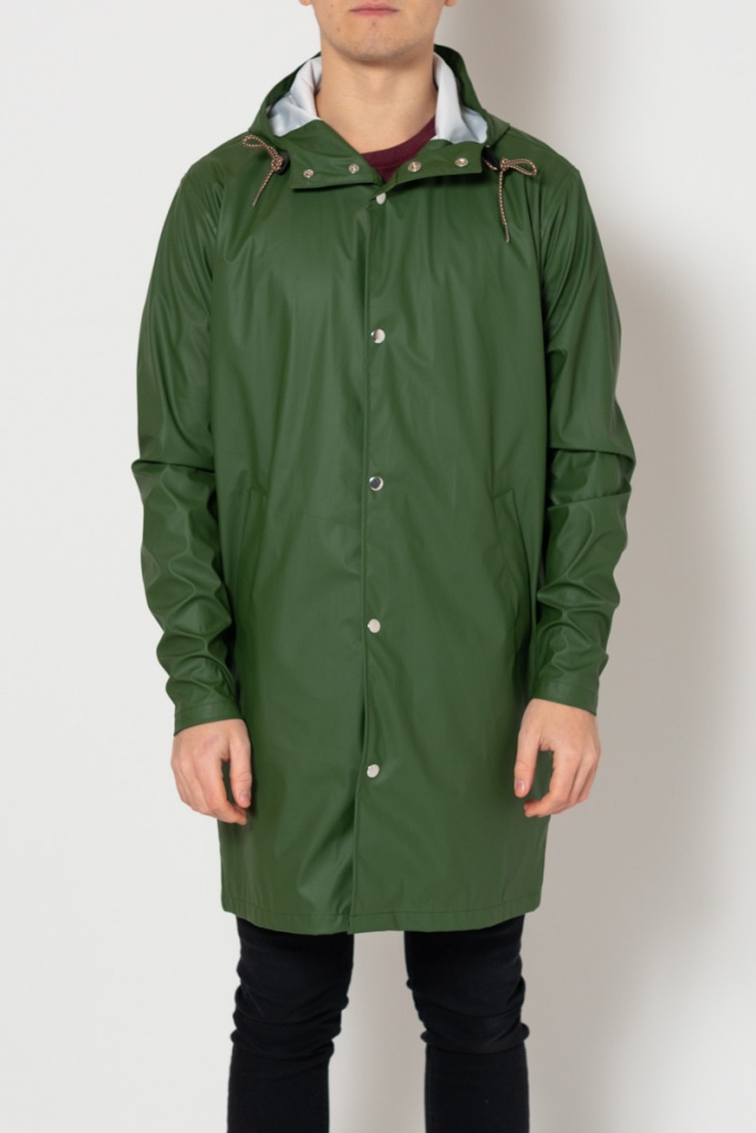 Long Rain Jacket - Black Forrest