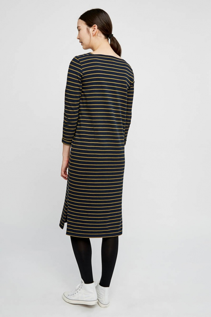 Lucille Stripe Dress - Navy
