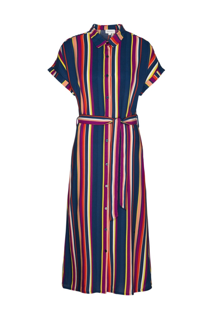 Marjaa Multicolor Stripes - Dark Navy/Carrot