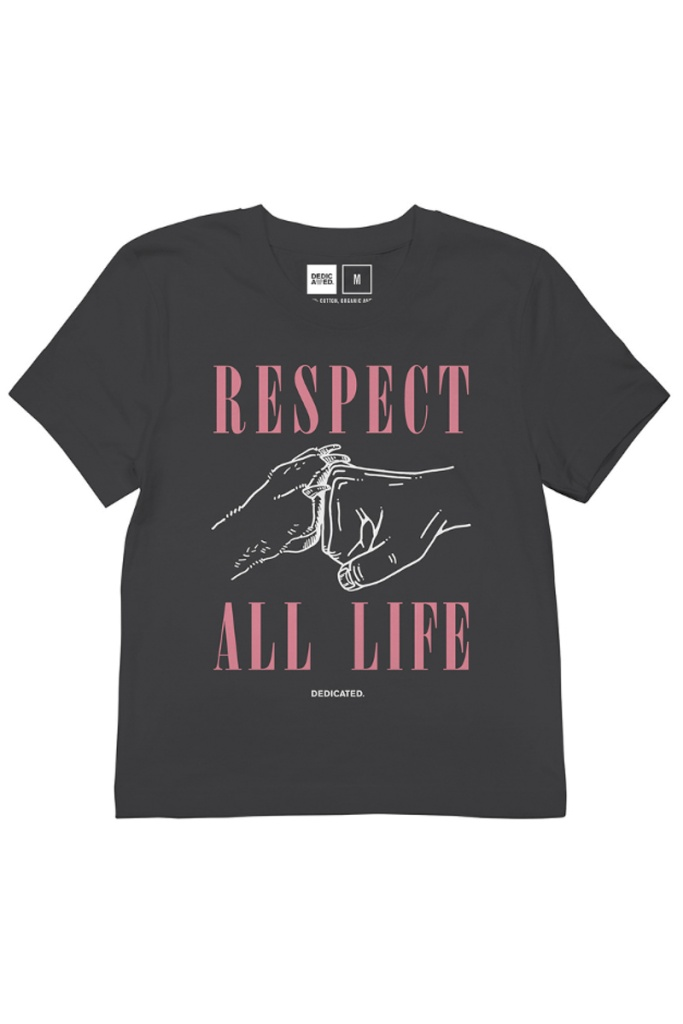 T-shirt Mysen Respect Life - Charcoal