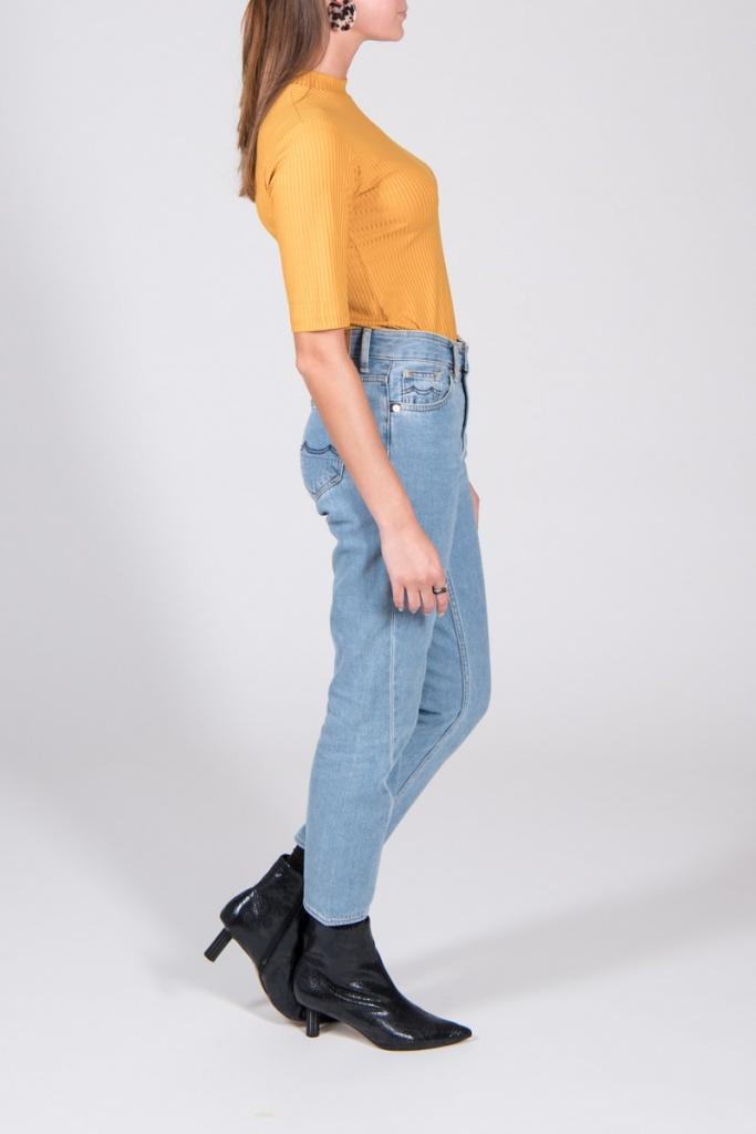 Top Nina - Rib Mustard