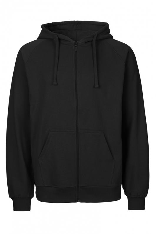 Masculine Zip Hoodie - Black - M