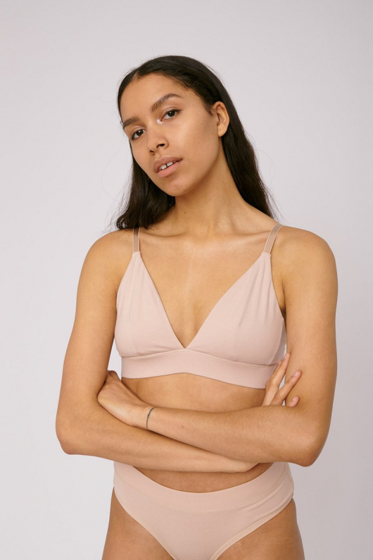 Triangle Bra - Rose Nude - L