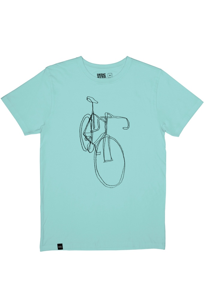 T-Shirt Stockholm One Line Bike - Blue Tint