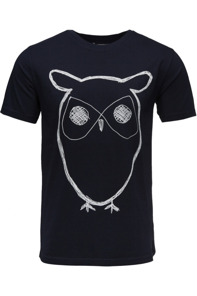 Owl Printed T-shirt - Total Eclipse