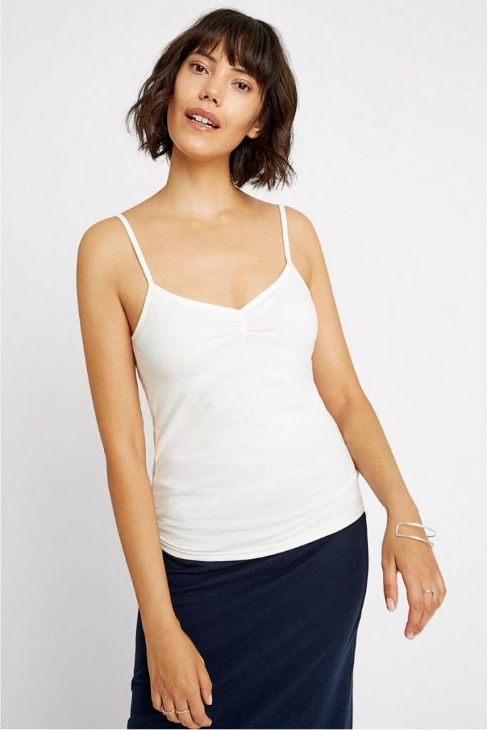 Jemma Camisole Top - Eco White - 08 (XS)