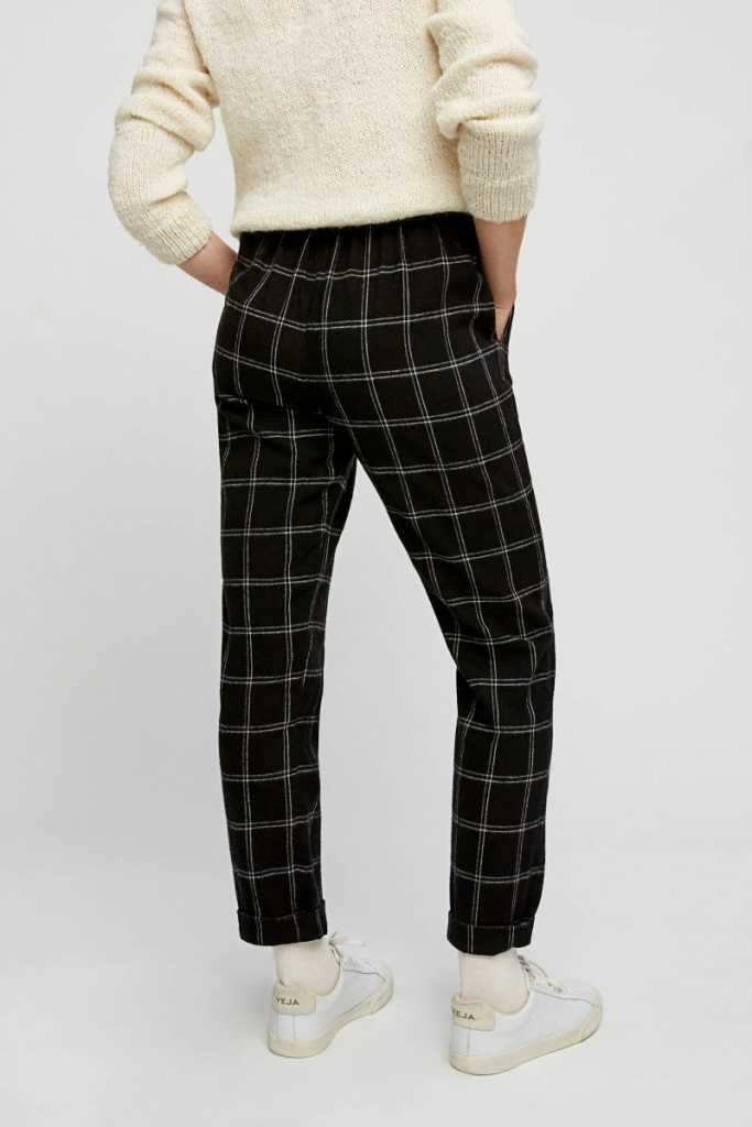 Reiko Check Trousers - Multi Color