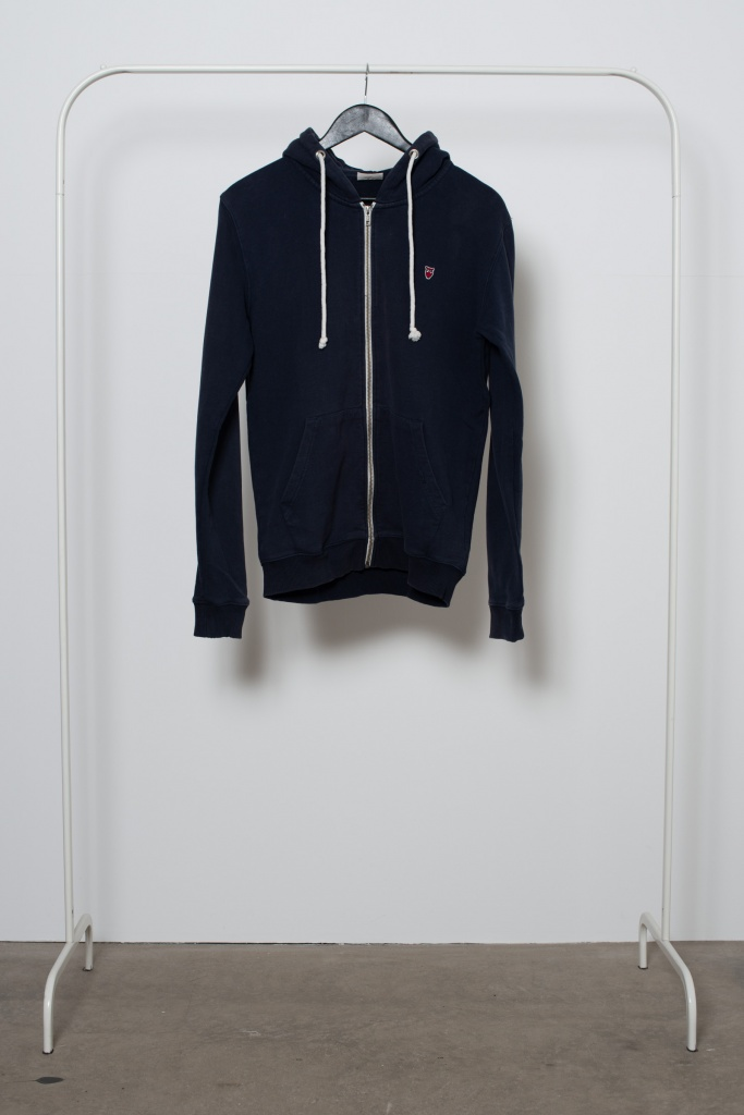 Reused Zip Hoodie - Mörkblå