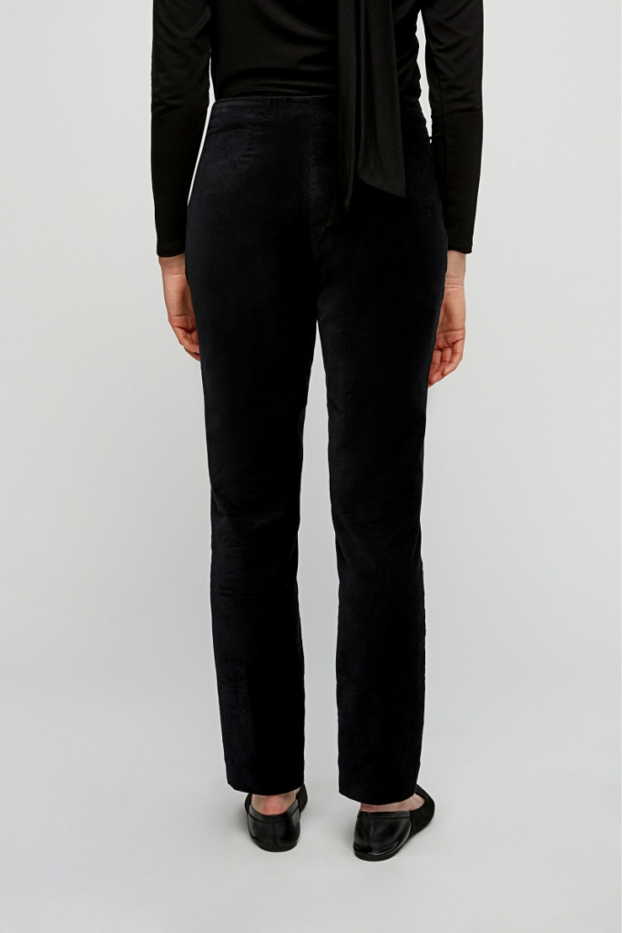 Romaine Velvet Trousers - Black