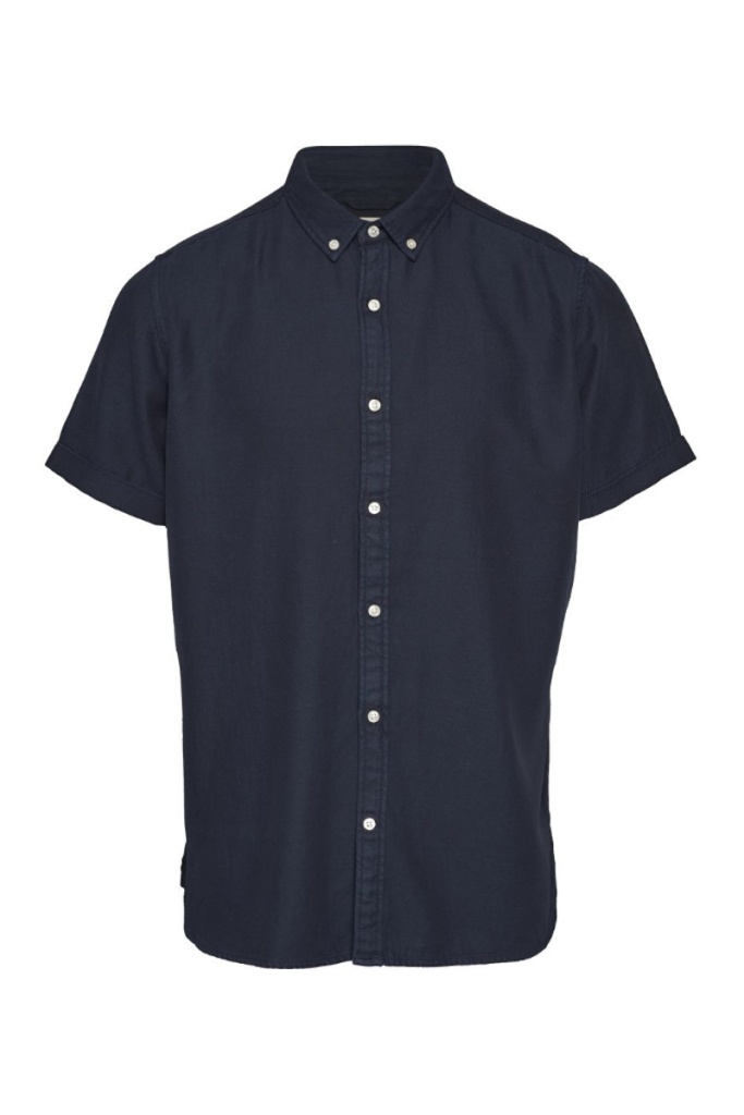 Short Sleeve Twill Shirt - Total Eclipse