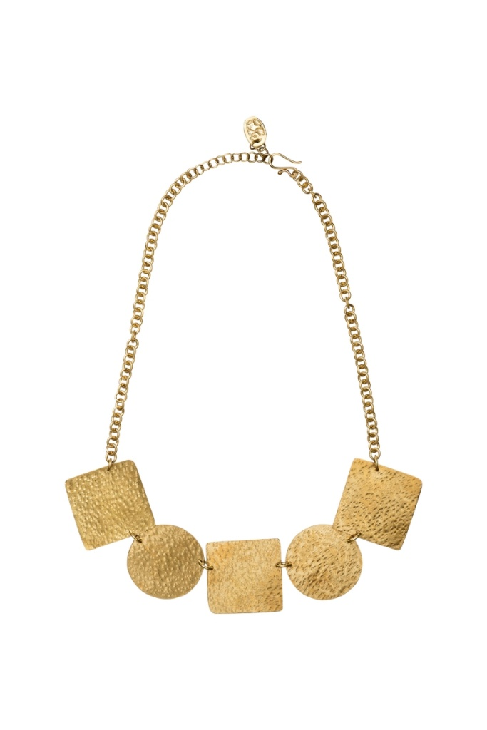 Statement Shapes Necklace - Brass