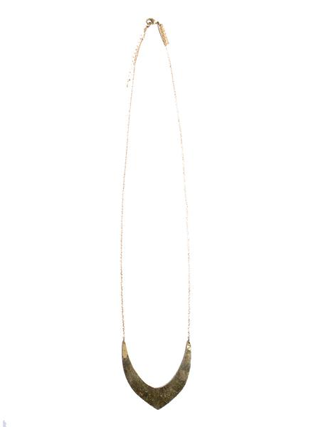 V-Necklace - Brass
