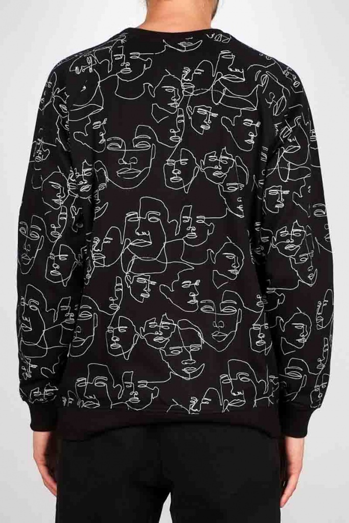 Sweatshirt Malmoe Faces - Black,