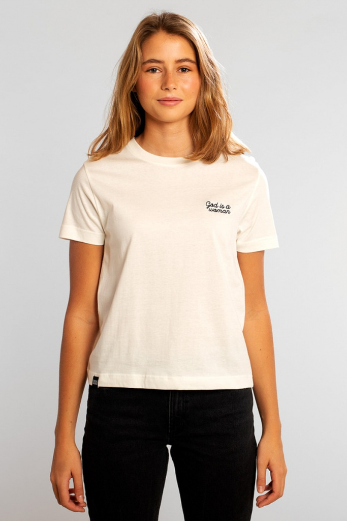 T-shirt Mysen God is a Woman - Off White - L