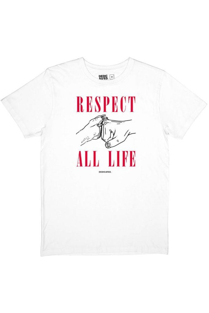 T-shirt Stockholm Respect Life - White