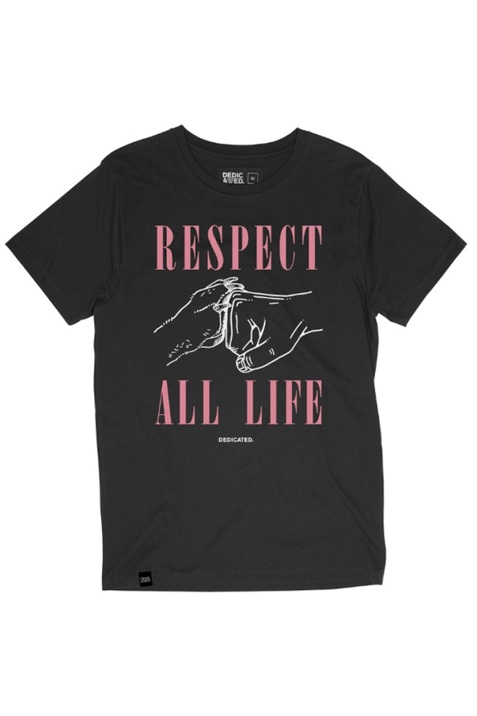 T-shirt Stockholm Respect Life - Charcoal