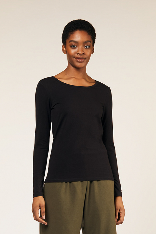 Fallon Long Sleeve Top - Black - 16 (XL)