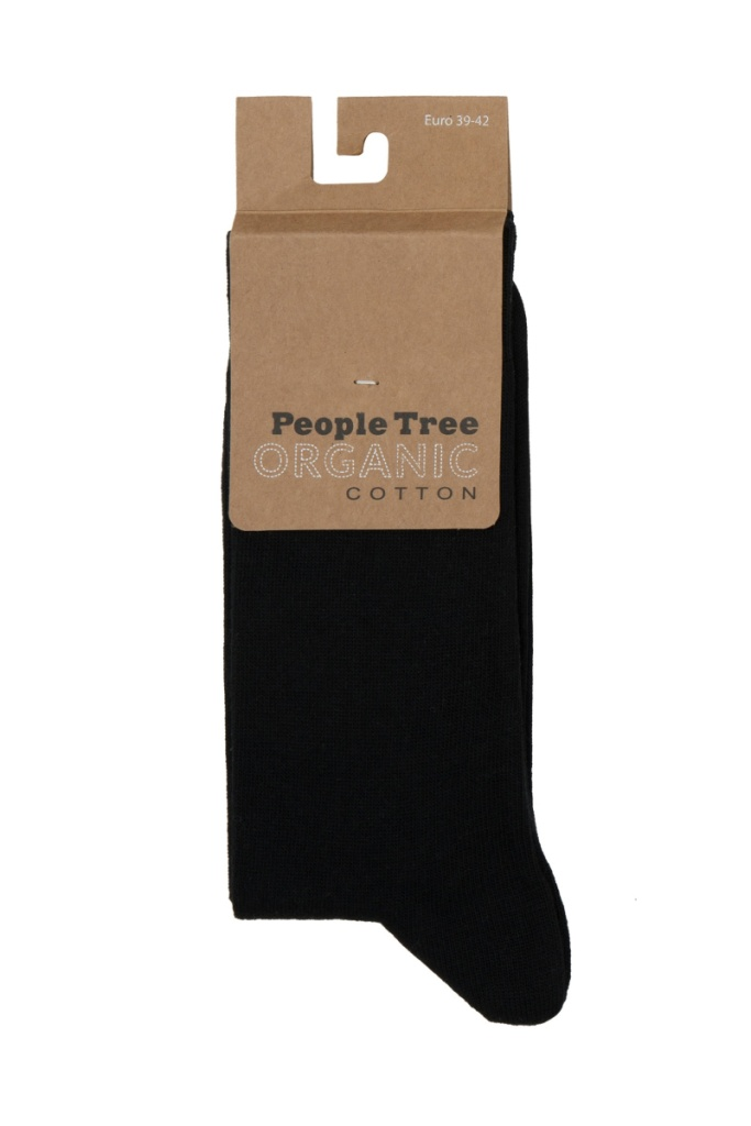 Organic Cotton Socks - Black - 39-42