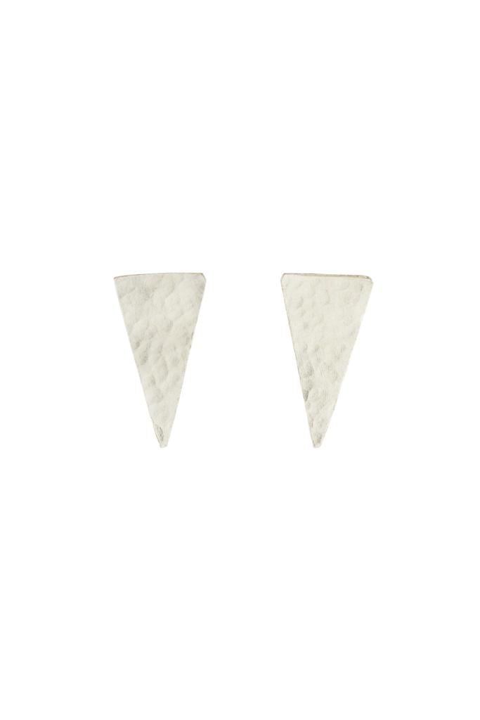 Triangle Stud Earrings - Silver