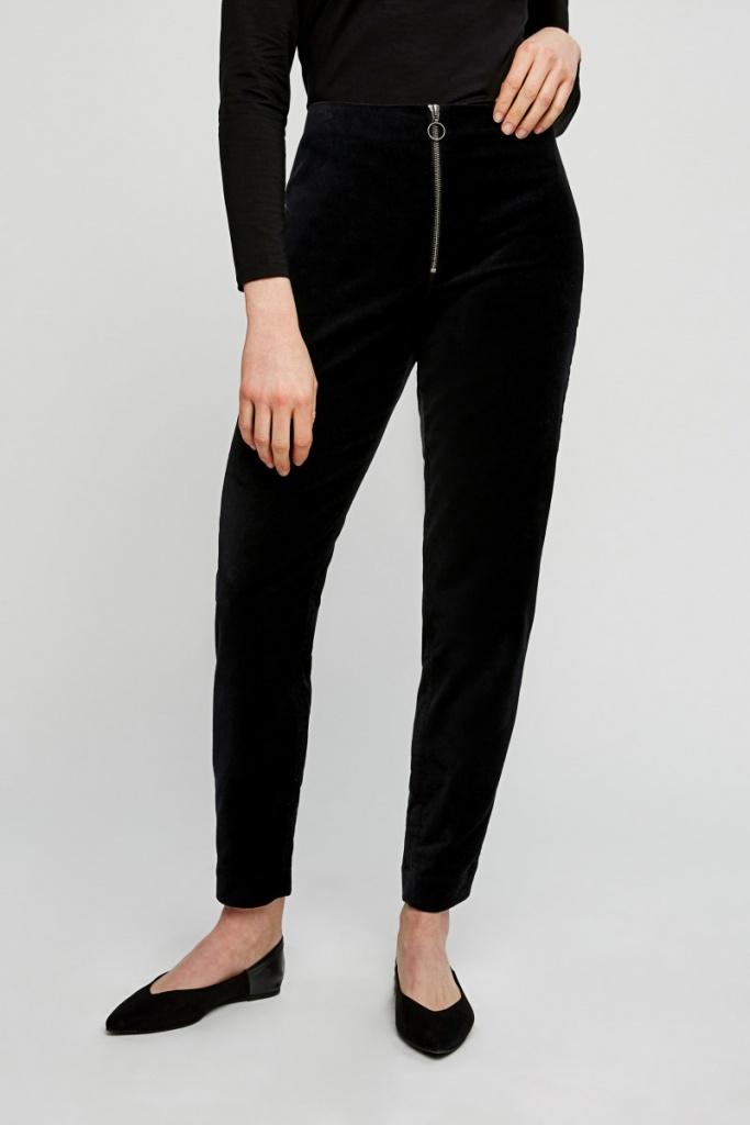 Romaine Velvet Trousers - Black - 16 (XL)