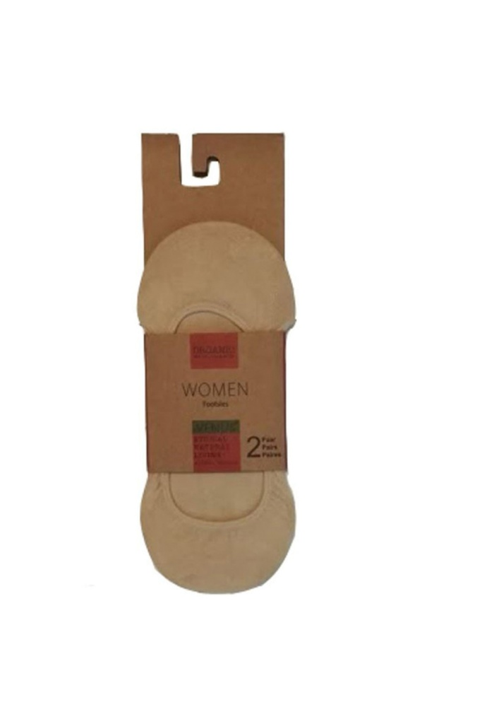 Invisible Socks 2 Pack - Beige