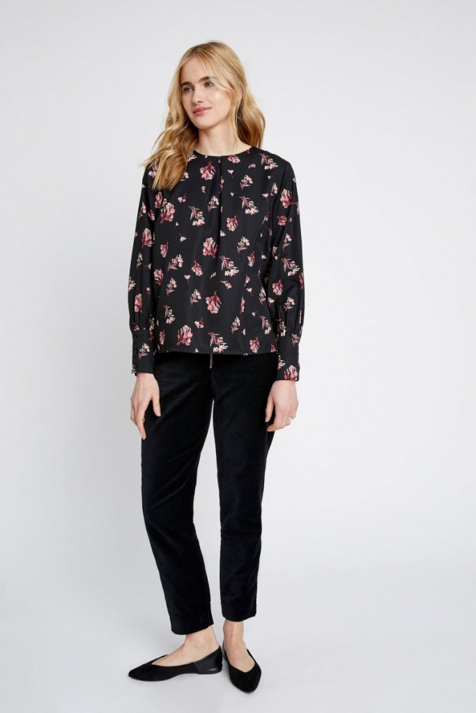 Valentina Bouquet Top - Black Multi