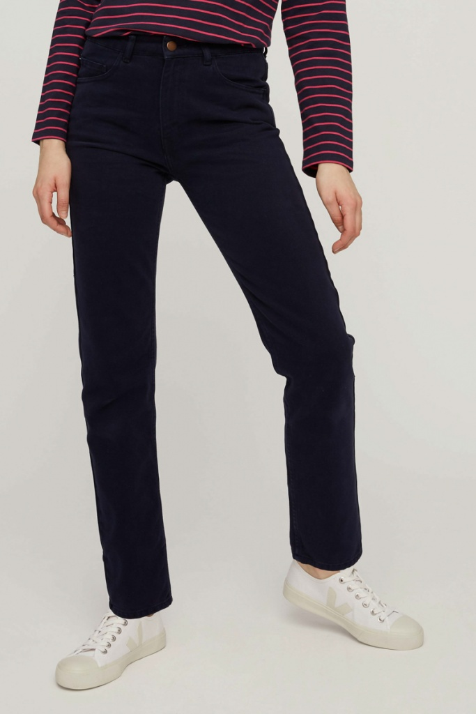 Irena Twill Trousers - Navy - 10 (S)