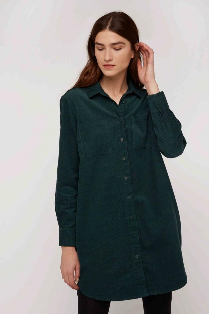 Franca Corduroy Shirt Dress - 14 (L)