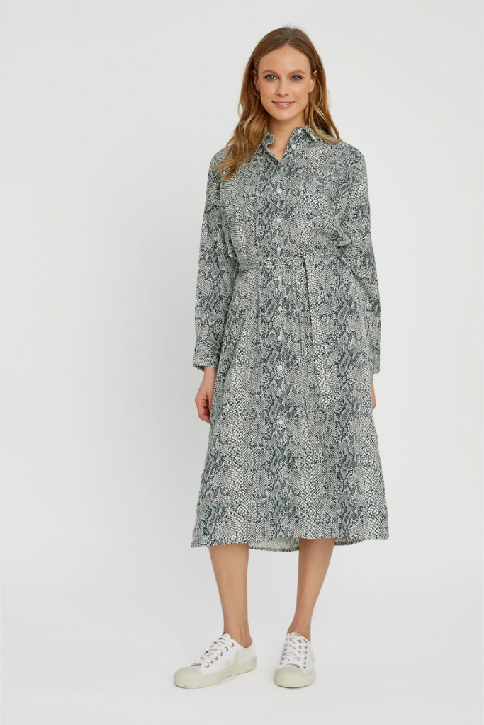 Ginny Snake Shirt Dress - 12 (M)