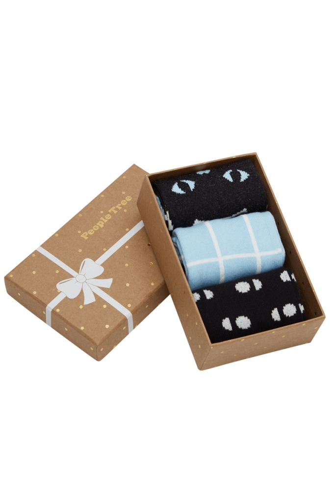 Cat Patterned Socks 3 in box - 39-42