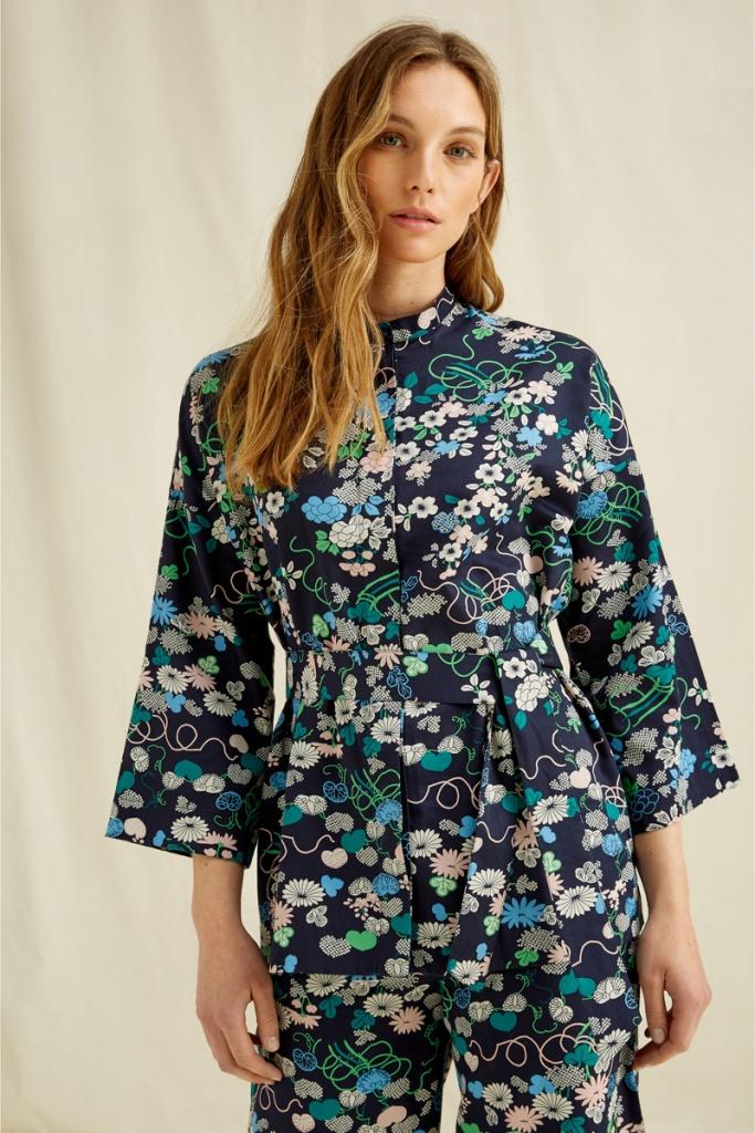 V&A Floral Print Shirt Jacket