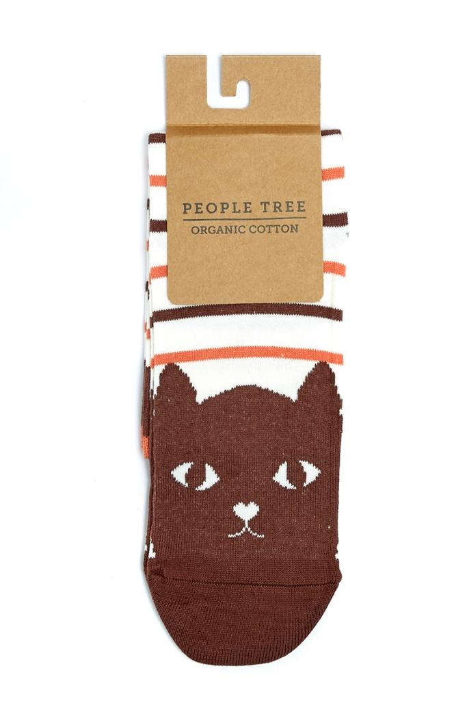 Cat Striped Socks - 35/38