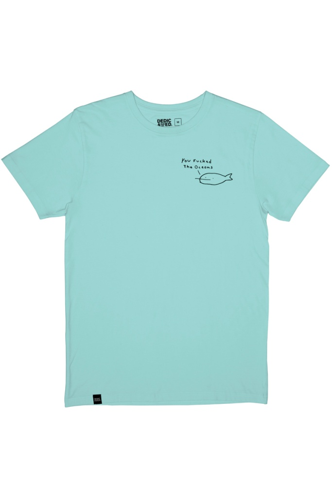 T-Shirt Stockholm You Fucked The Oceans - Blue Tint