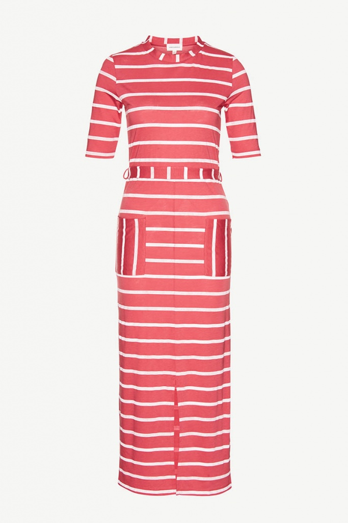 Tonia Watercolor Stripes - Red/Off white