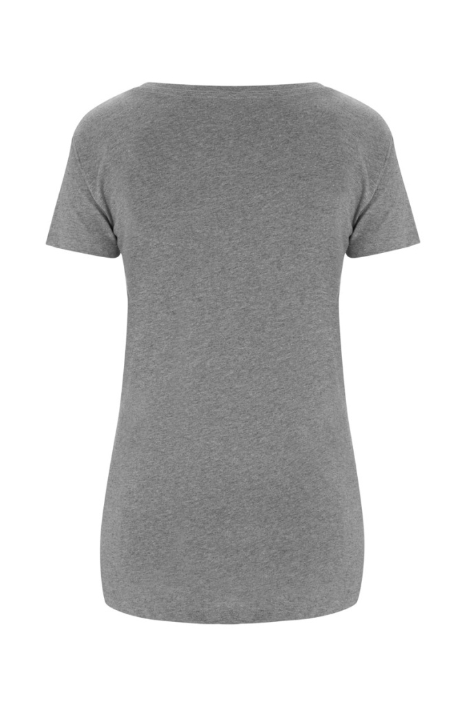 Basic Feminine T-shirt - Grey Melange