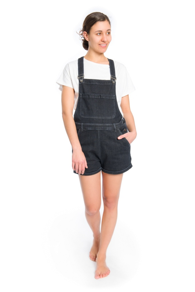 Bib Pant Ladies - Black Washed