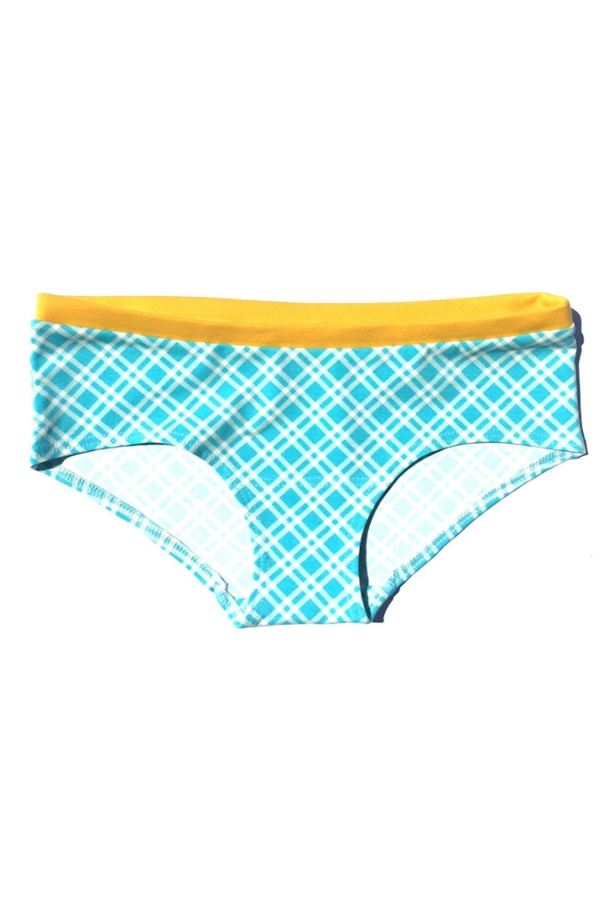 Hipster Panties - Blue Checks