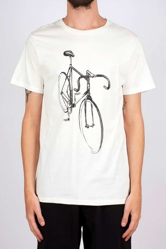 Stockholm Drawn Bike - Off White