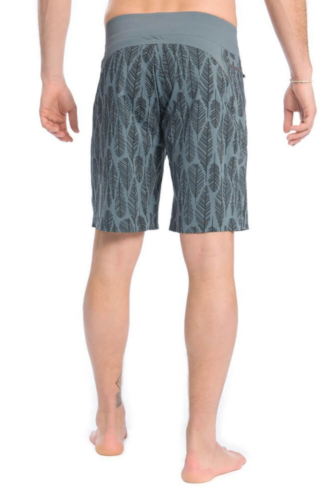 Feather Board Short - Grey Black