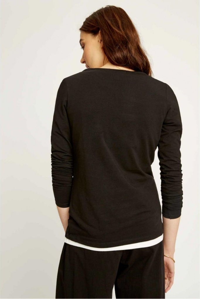 Fallon Long Sleeve Top - Black