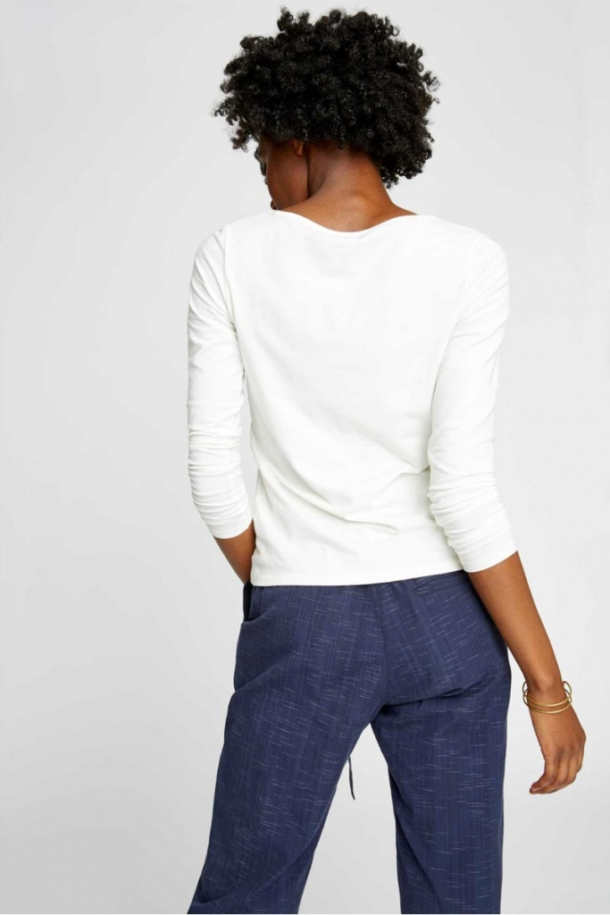 Fallon Long Sleeve Top - White
