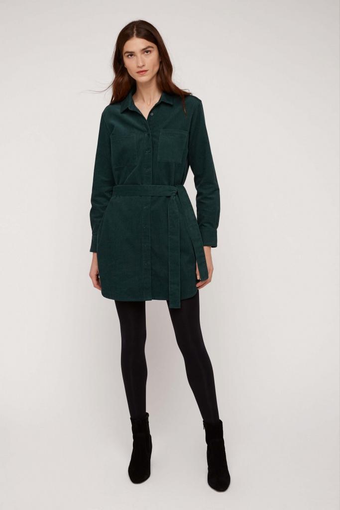 Franca Corduroy Shirt Dress - 08 (XS)