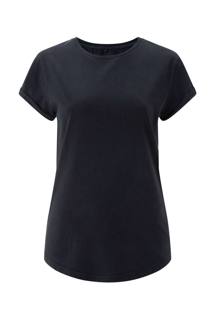Rolled Sleeve T-Shirt - Vintage Black