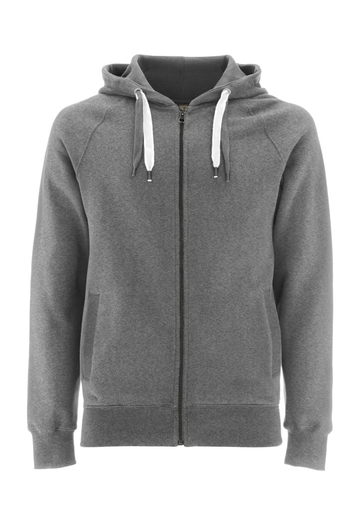 Zip-Up Hoody - Grey Melange