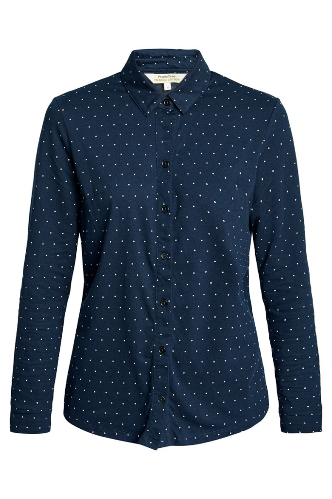 Georgie Dot Shirt - Navy