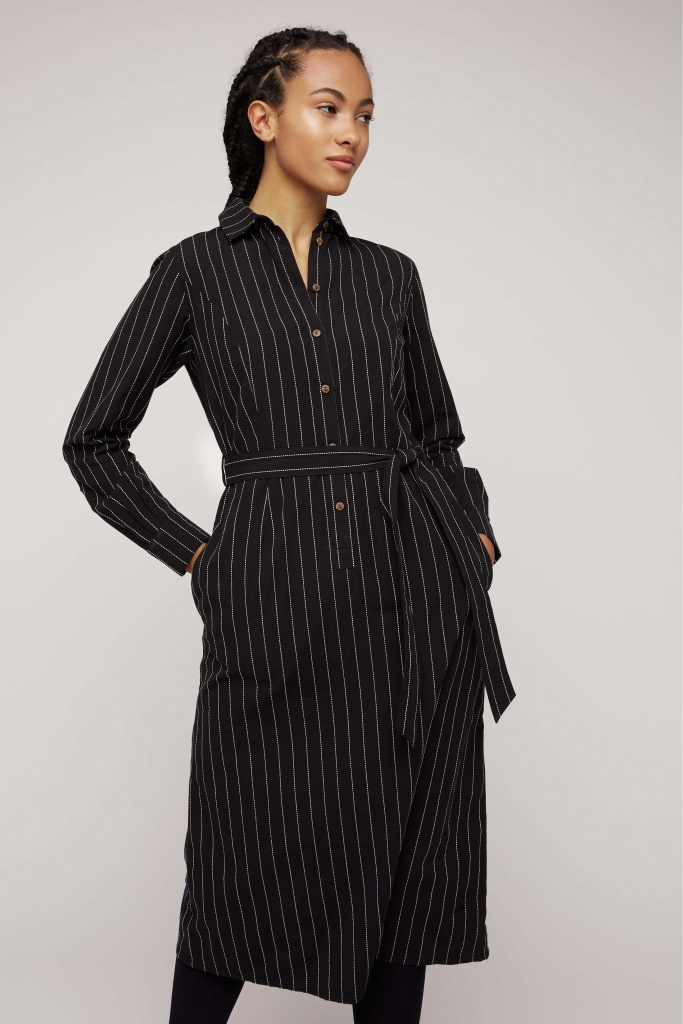 Isadora Pinstripe Shirt Dress - 12 (M)