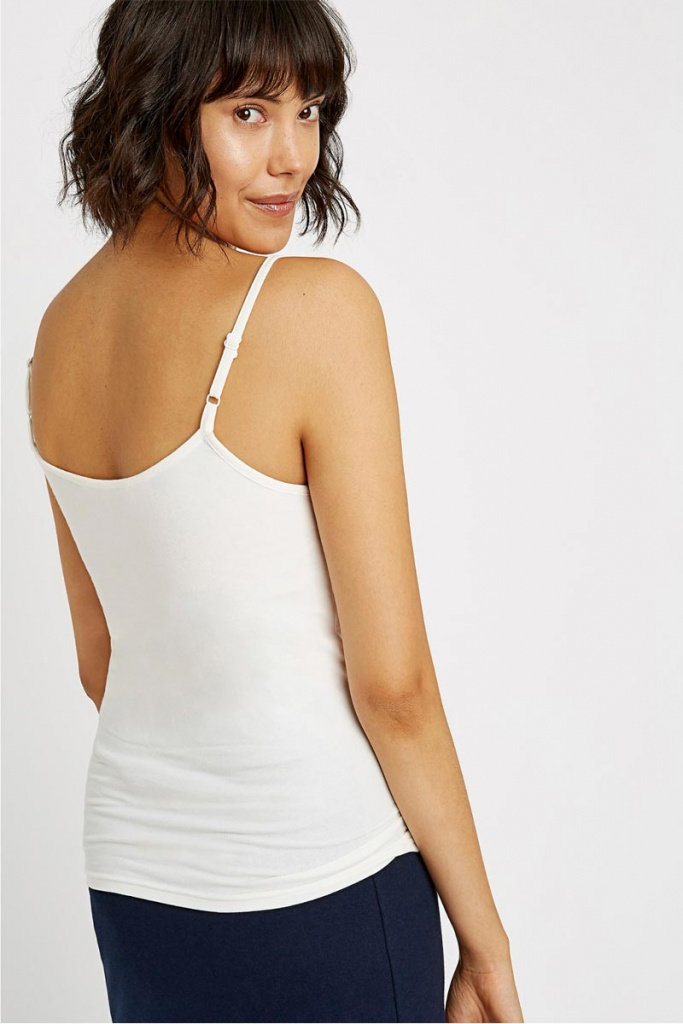 Jemma Camisole Top - Eco White