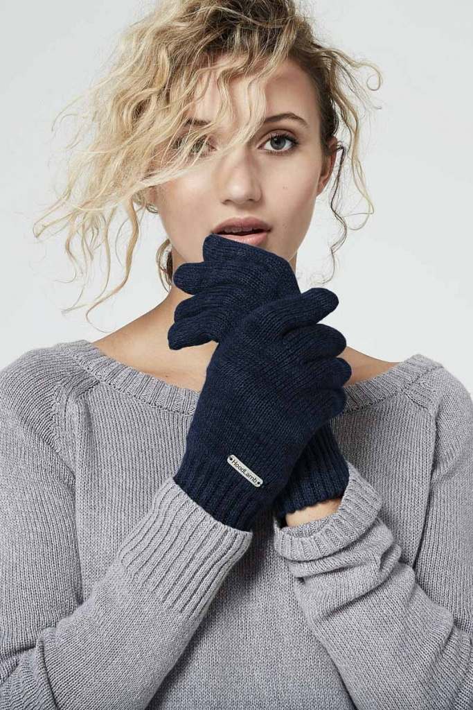 Knit Gloves - Midnite Blue