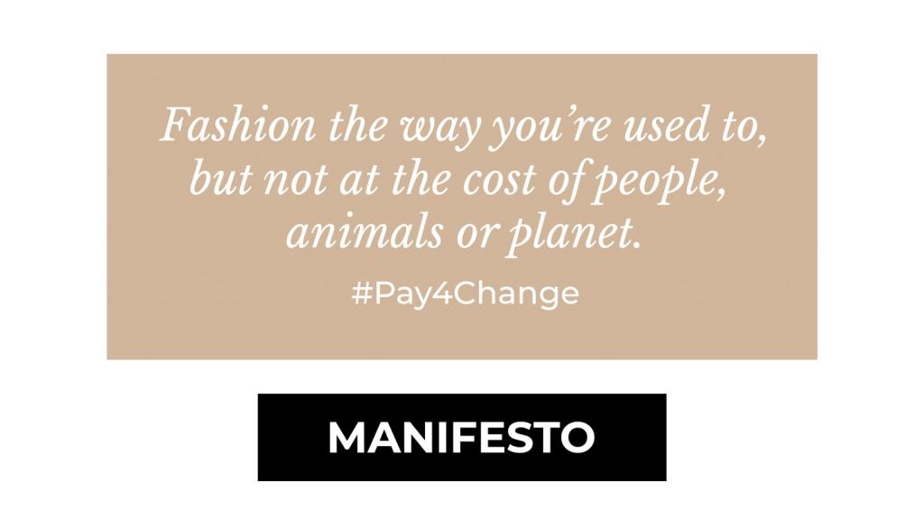 THRIVE Hållbart Mode Manifest