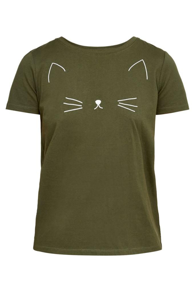 Meow Tee - Khaki